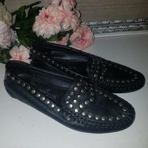 Robert Zur Womens Black Catena Driving loafer 7.5M